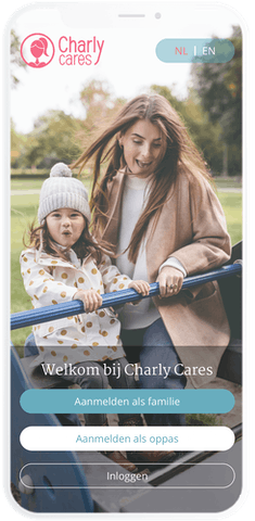 Find babysitting jobs via the Charly Cares Babysitting App
